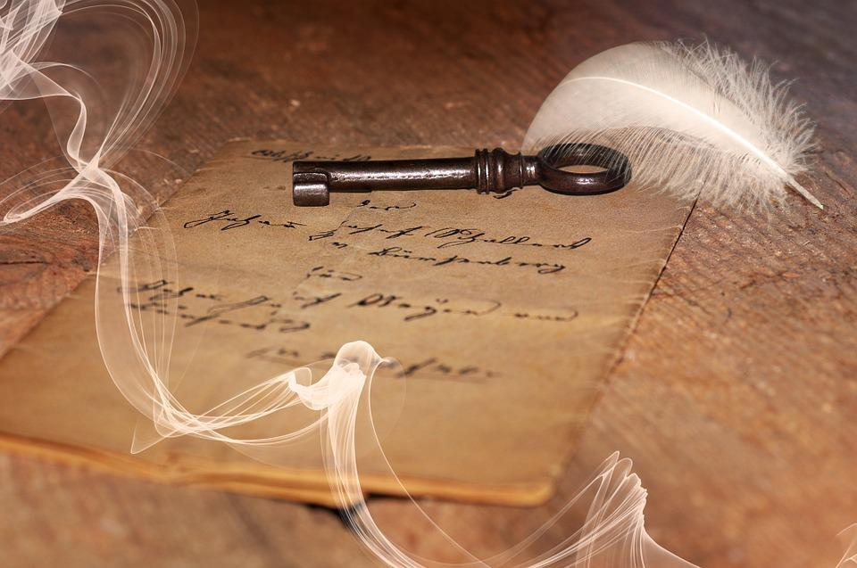 Letters, Old, Antique, Handwriting, Key, Fields, Wood