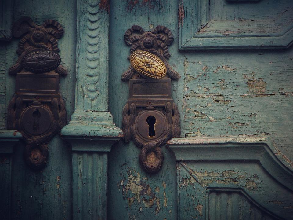 Free photo Key Gate Open Blue Old Door Handle Old Door - Max Pixel