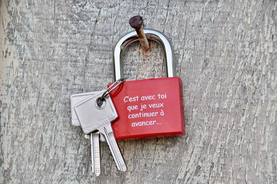 Padlock, Key, Protection, Symbol Of Love, Heart