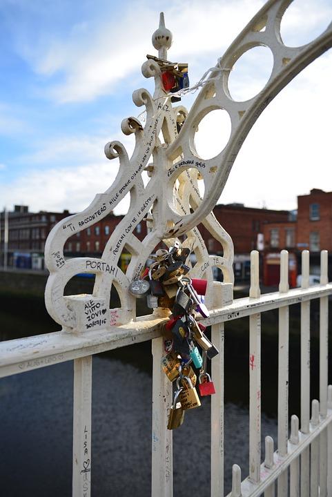 Bridge, Key, Love, Lock, Locking, Landscape, Rock