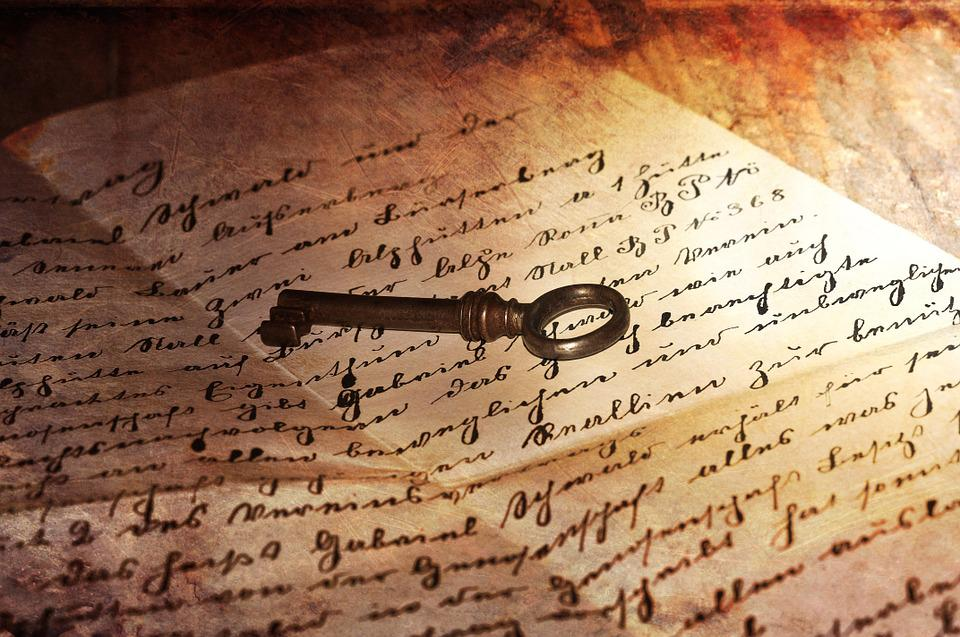 Letters, Handwriting, Old, Key, Antique