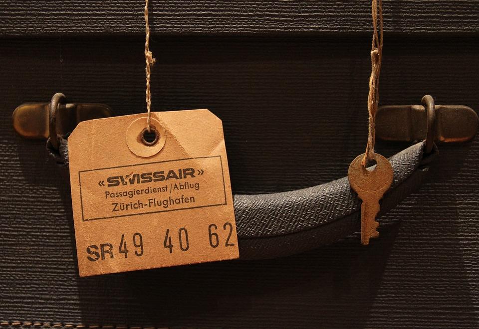 Luggage Tag, Key, Old, Vintage, Retro, Suitcase, Label