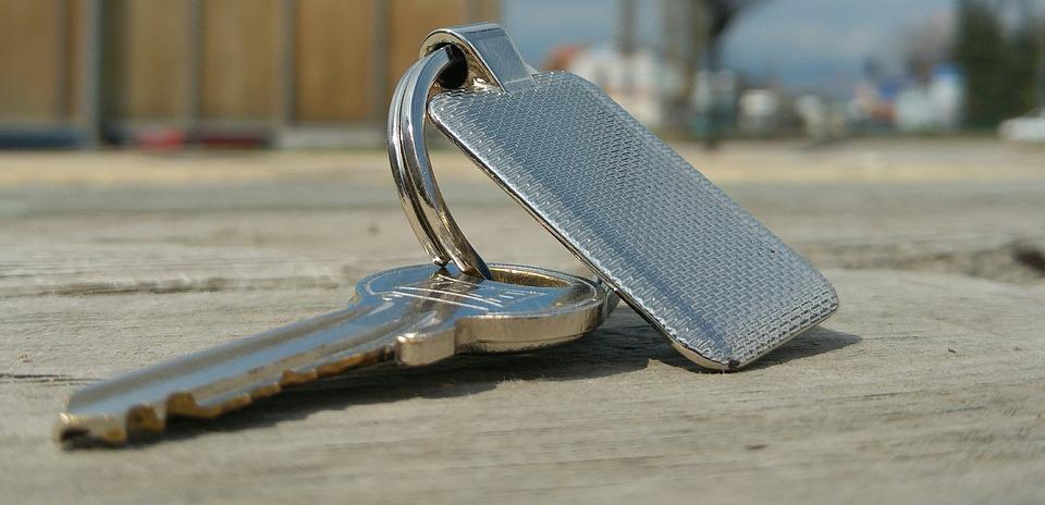 Key, Keychain, Metal, Grey, Shiny, Color, Mat