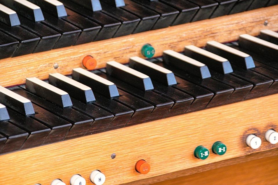 Organ, Keyboard, Keys, Wood, Music, Instrument