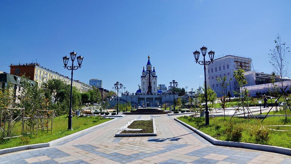Temple, Park, Khabarovsk
