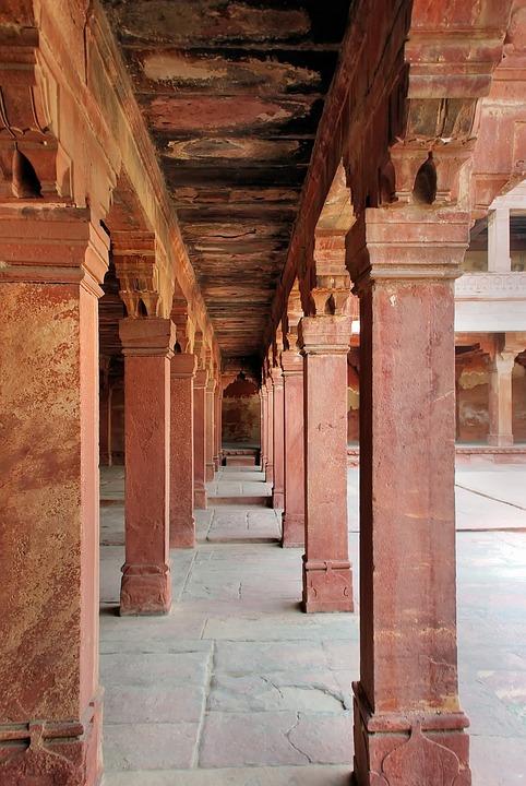 India, Fathepur Sikri, Palace, Khan, Pink Sandstone