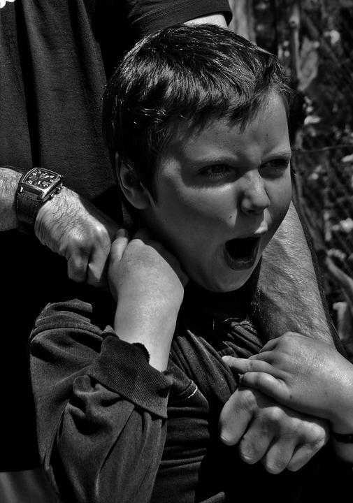 Kid, Child, Scream, Boy, Emotions, Black And White