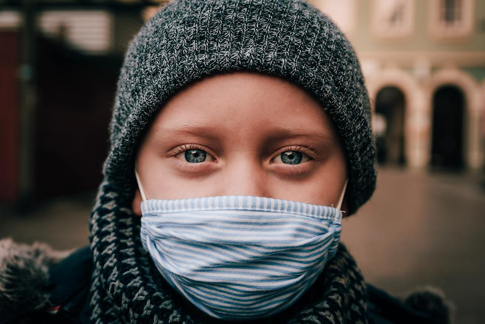 Child, Face Mask, Portrait, Kid, Young, Cloth Mask
