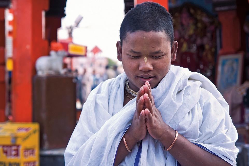 Pray, India, Boy, Peace, Faith, Hand, Kid, Holy, Asian