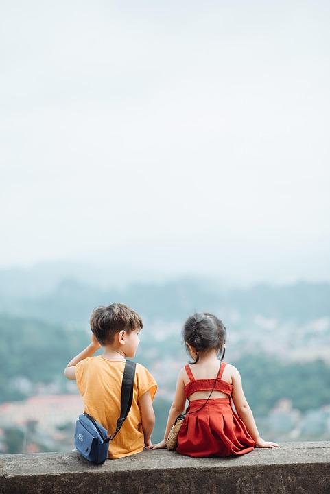 Kid, Sky, Boy, Children, Clouds, People