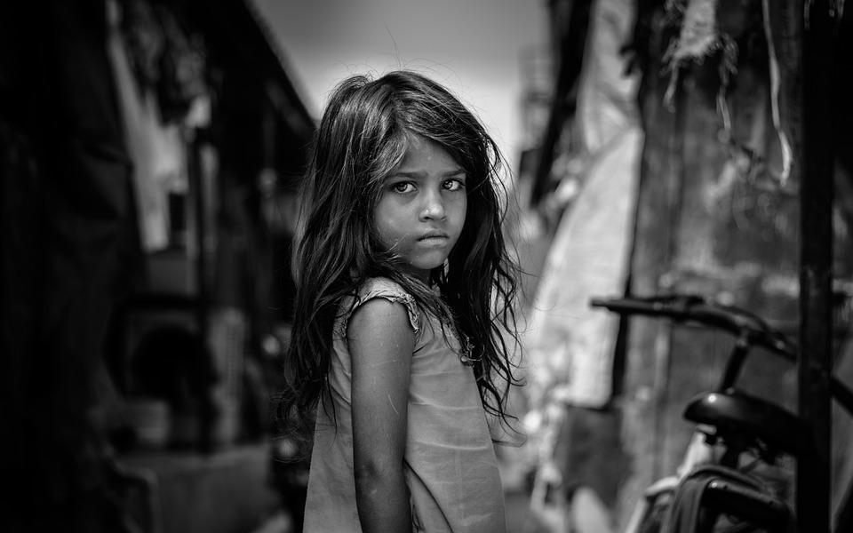 Girl, Kid, Child, Portrait, Sad, Poor, Poverty, Young
