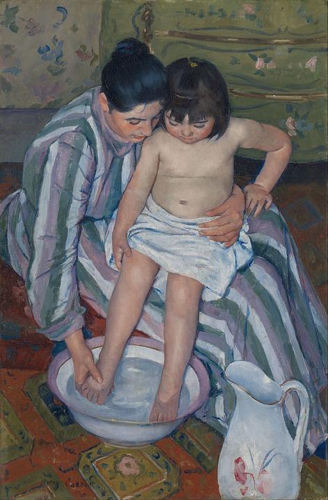 Bath, Bathing, Children, Kids, Children Bath, Mother