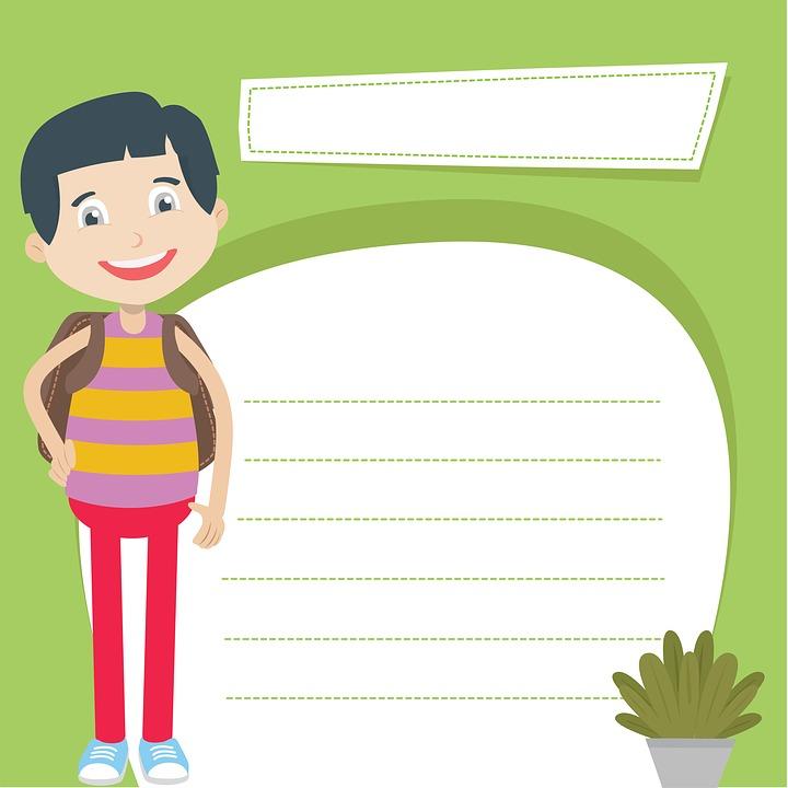 Boy, Paper, Students, Clipart, Cute, Kids, Design