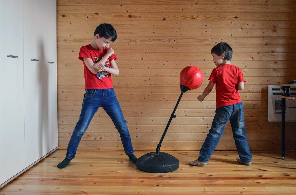 Kids, Boys, Fight, Fists, Boxing, Sports, Training