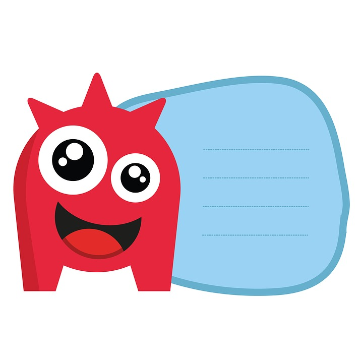 Monster, Record, Tags, Illustration, Kids, Clipart