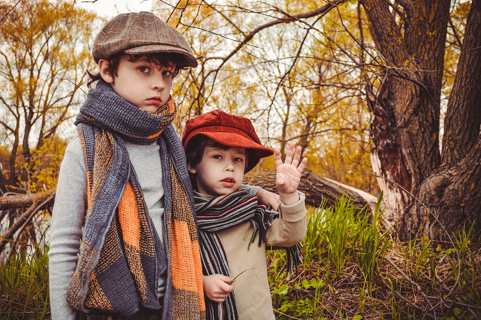 Autumn, Kids, Brothers, Boys, Baby, Outdoors, People