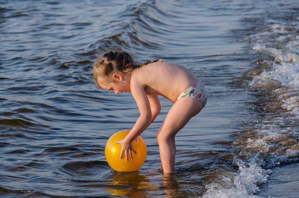 Kids, Beach, Girl, Sandy Beach, Wave, Game, River, Kid