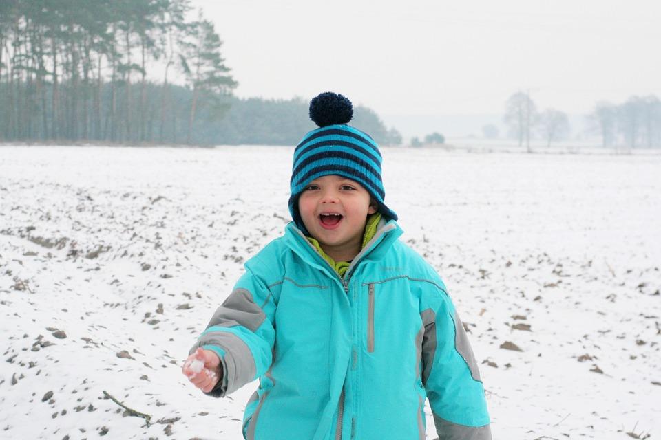 Kids, Snow, Winter, Happy, Child, Turquoise, Cap, Hat