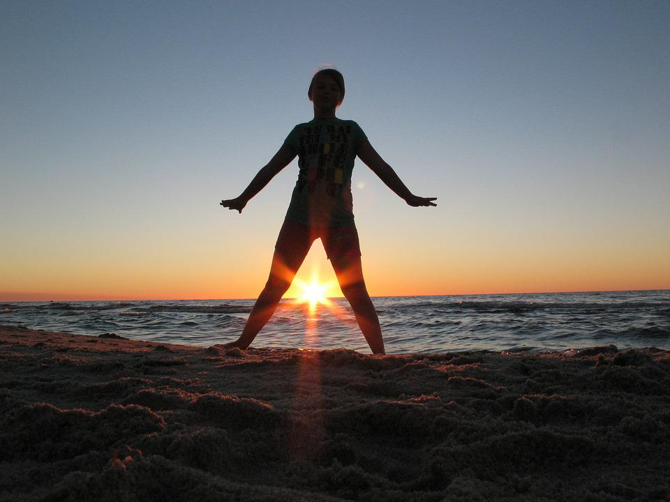 Sea, Beach, Sunset, The Baltic Sea, Relaxation, Kids