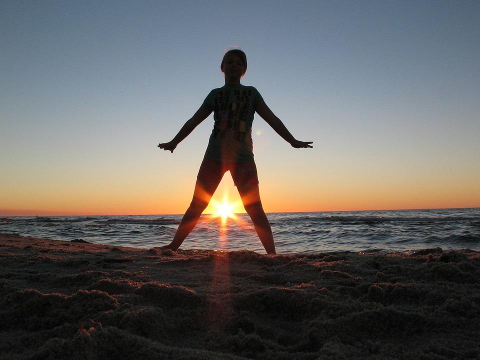 Sea, Beach, Sunset, The Baltic Sea, Relaxation, Kids