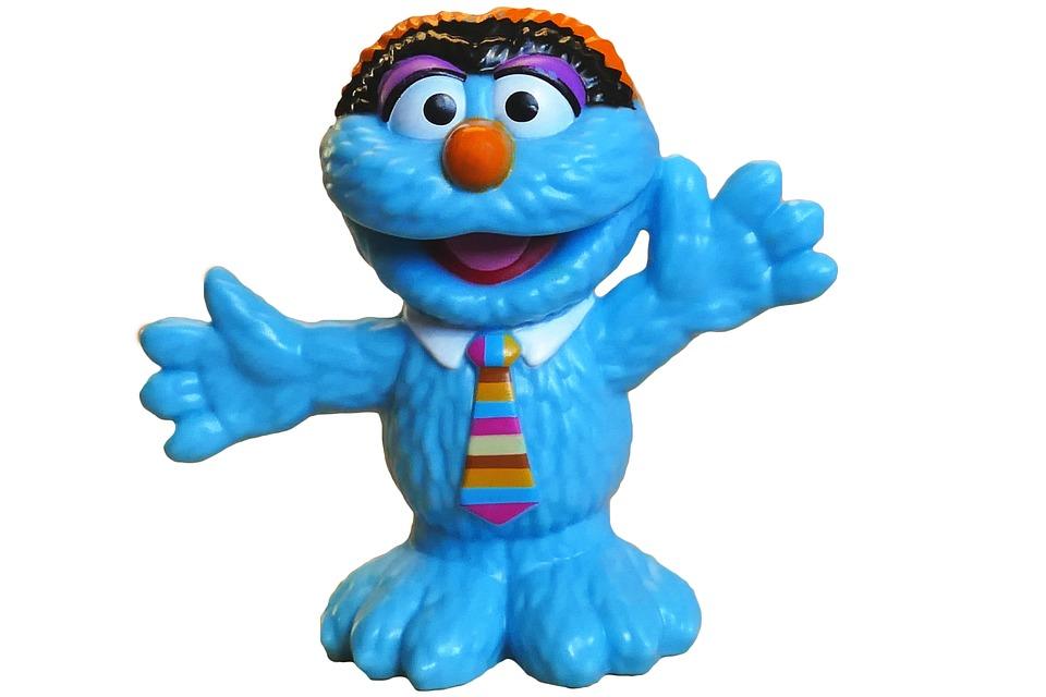 Toys, Muppets, Sesame Street, Blue, Monster, Kids, Fun