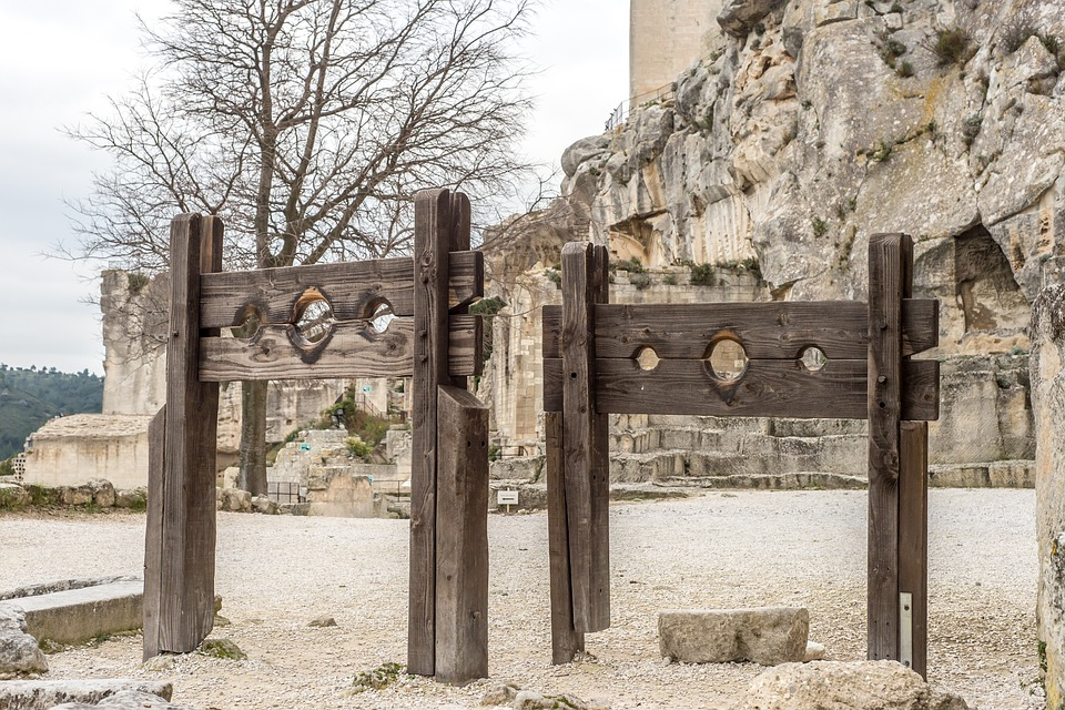 Pillory, Middle Ages, Knight, Killer, Prisoners