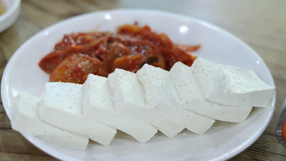 Tofu, Raw, Food, Kimchi, Side Dish, Soybean, Healthy