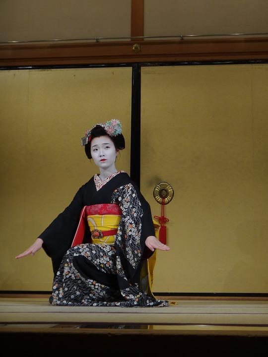 Geisha, Kyoto, Culture, Central, Japan, Play, Kimono