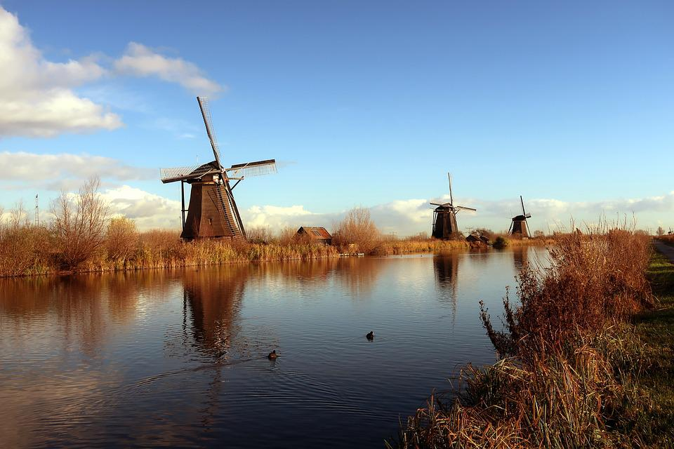 Kinderdijk, Mill, Mills, Netherlands, Holland, Tourism