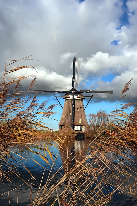 Kinderdijk, Mill, Netherlands, Holland, Wind Mill