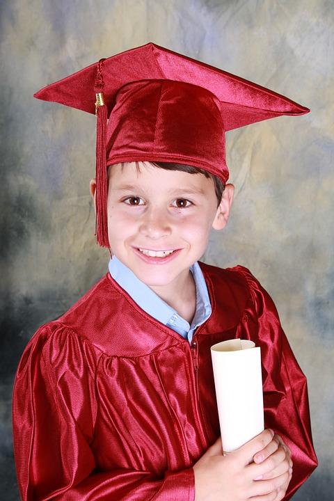 Graduation, Kindergarten Graduation, Boy, Education