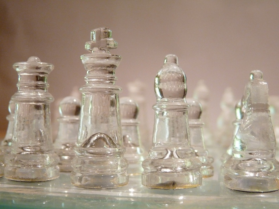 Chess, Pieces, Glass, Game, Board, Close-up, King