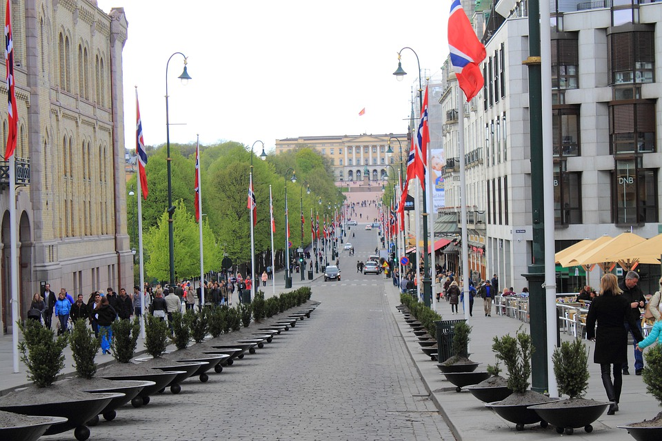 Oslo, Norway, King House, Karl Johans Gate