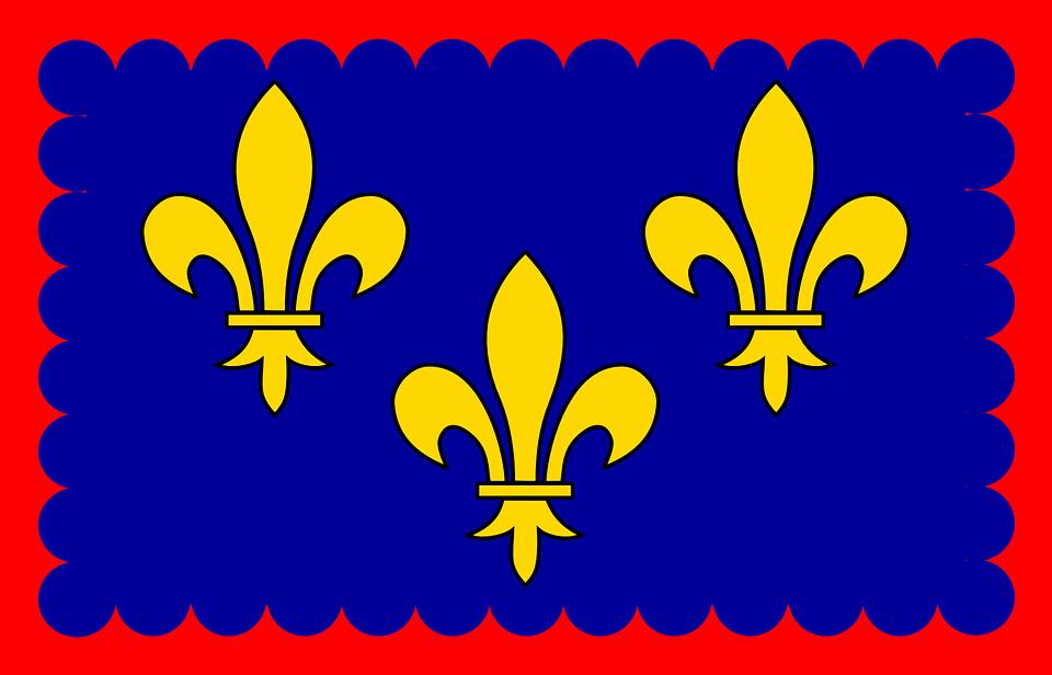 Ile-de-france, Flag, Kingdom Of France, French, Region