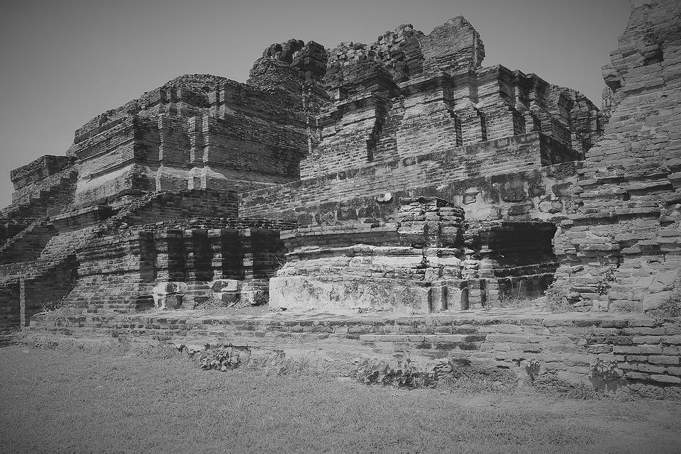 City, Ayutthaya, Kingdom Of Siam, Thailand, Remains