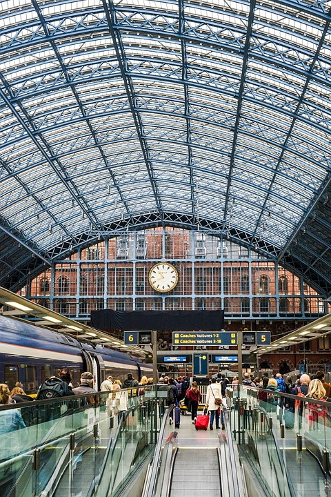 London, Eurostar, Station, Building, King's Cross