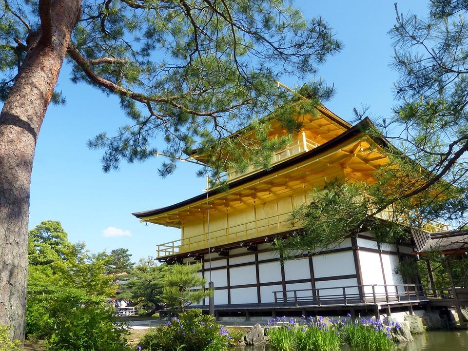 Japan, Kyoto Prefecture, Kinkaku, Golden Pavilion