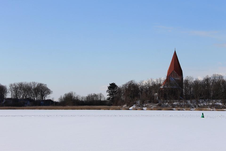 Insel Poel, Baltic Sea, Kirchdorf, Church Steeple, Sky