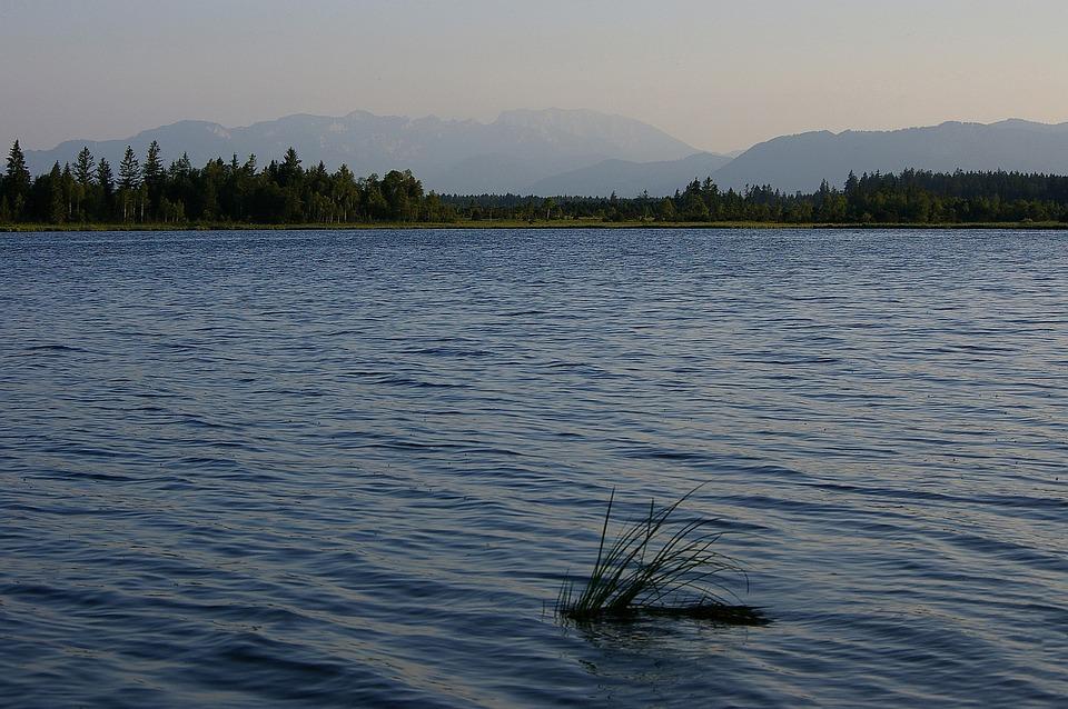 Kirchsee, Lake, Mountains, Alpine, Sky, Water, Nature