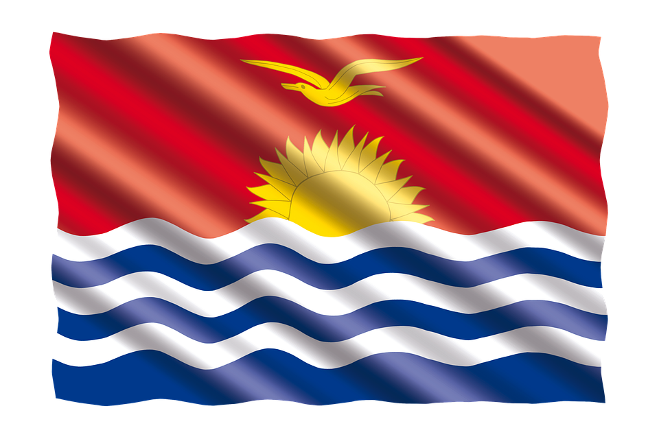 International, Flag, Kiribati