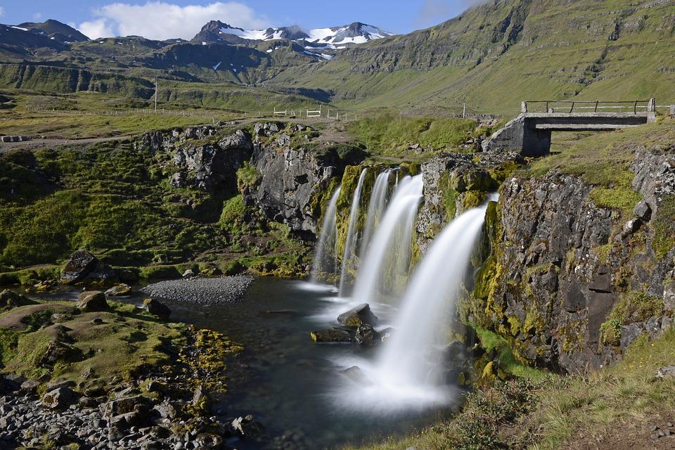 Kirkjufellfoss, Waterfall, Flow, Landscape, Nature