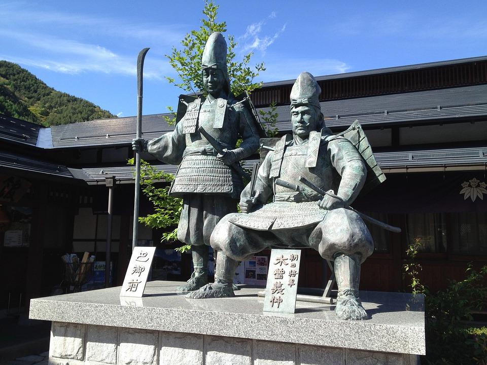 Kiso, Statue, Yoshinaka, Nagano Prefecture, Tomoe Gozen