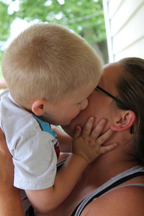 Kiss, Toddler, Family, Love, Auntie, Female, Baby