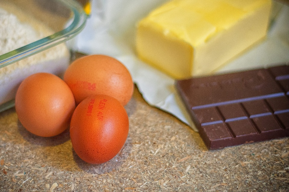 Eggs, Butter, Flour, Chocolate, Kitchen, Cook, Cake