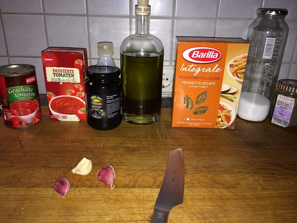Cook, Kitchen, Cutting Board, Ingredients