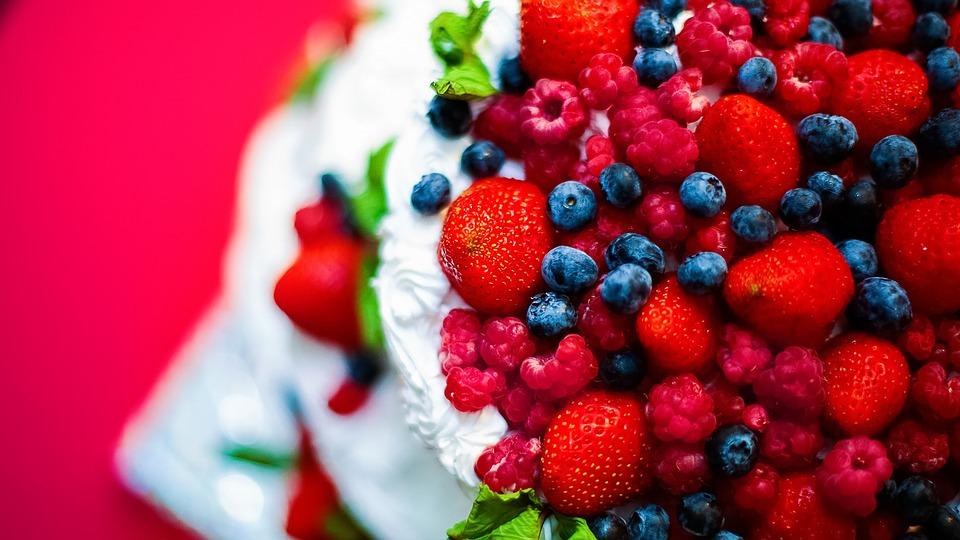 Berry, Cream, Cake, Dessert, Sweet, Kitchen, Yogurt