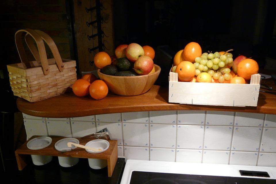 Fruit, Kitchen, Tile