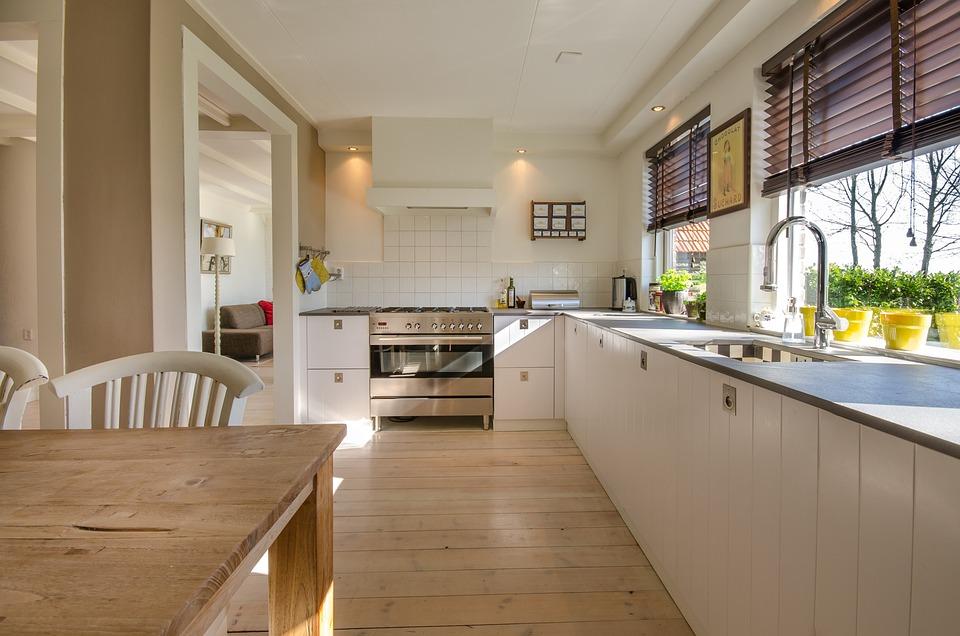 Kitchen, Home, House, Interior, Modern, Room, Floor