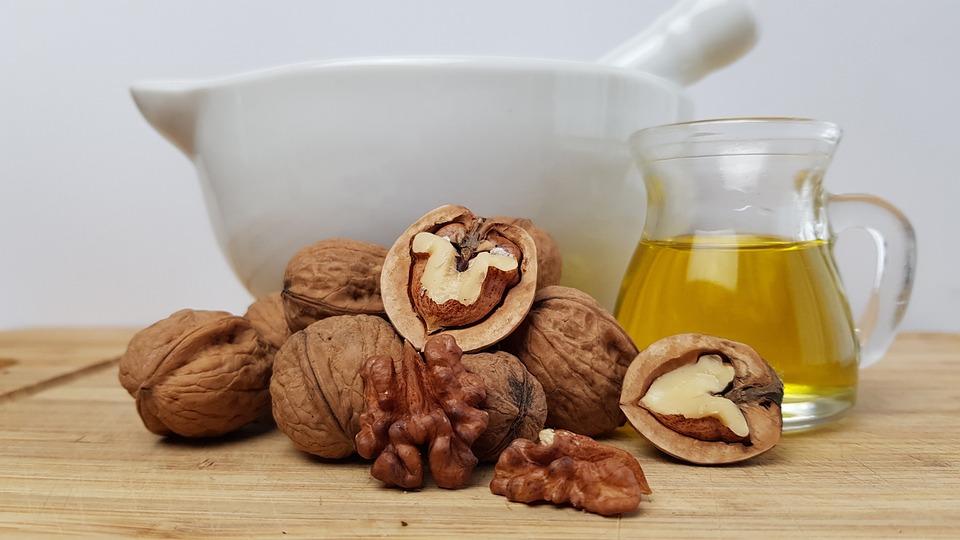 Walnut Oil, Nuts, Pilon, Mortar, Power, Kitchen
