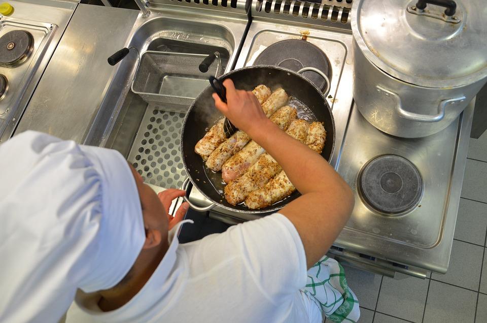 Restaurant, Kitchen, Cook, Food